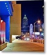 Atlanta Outside Cnn Metal Print