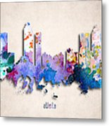 Atlanta Painted City Skyline Metal Print