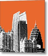Atlanta Skyline 2 - Coral Metal Print