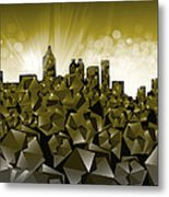 Atlanta Skyline Geometry Metal Print