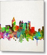 Atlanta Skyline Watercolor Metal Print