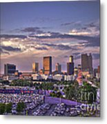 Atlanta Sunset Fulton County Stadium Braves Game  Metal Print