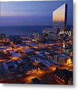 Atlantic City At Dawn Metal Print