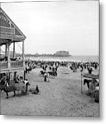 Atlantic City Beach, C1900 Metal Print