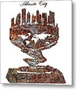 Atlantic City Rusty Skyline Metal Print