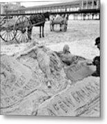 Atlantic City The Sandman Metal Print