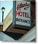 Atlantic Hotel Metal Print by Skip Willits