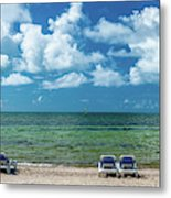 Atlantic Ocean At Smathers Beach In Key Metal Print
