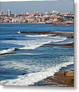 Atlantic Ocean Coast In Cascais And Estoril Metal Print