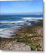 Atlantic Ocean Shore In Estoril Metal Print