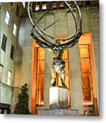 Atlas In Rockefeller Center Metal Print