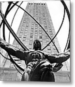 Atlas In Rockefeller Center Metal Print