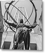 Atlas Statue Rockefeller Center Metal Print