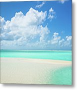 Atoll Lagoon Sand Bank Turquoise Clear Metal Print