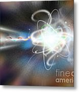 Atom Collision Metal Print by Mike Agliolo