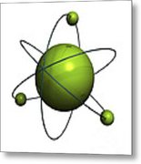 Atom Structure Metal Print
