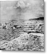 Atomic Bomb Destruction Metal Print