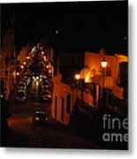 Atop Calle Hostos At Night Horizontal Metal Print