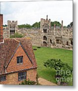 Atop The Castle Wall Metal Print