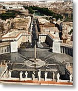 Atop The Domo - Vatican Metal Print by Jon Berghoff