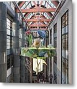 Atrium Of The Central Library In Los Angeles Metal Print