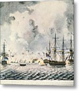 Attack On Fort Mifflin, 1777 Metal Print