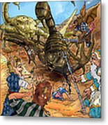 Attacked By Scorpions Metal Print