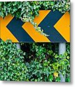 Attention Road Sign  Metal Print