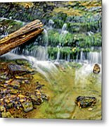 Au Train Falls Iv Metal Print