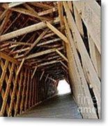 Auchumpkee Creek Covered Bridge Inside View Metal Print