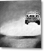 Audi Quattro Flying Metal Print