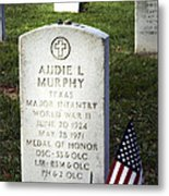 Audie Murphy - Most Decorated Metal Print