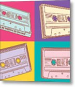 Audio Cassettes Metal Print