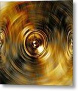 Audio Gold Metal Print