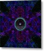 Audio Purple Glow Metal Print