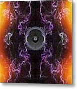 Audio Purple Orange Metal Print
