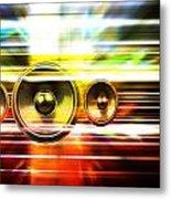 Audio Streaks Metal Print