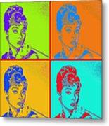 Audrey Hepburn 20130330v2 Four Metal Print