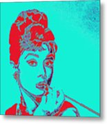 Audrey Hepburn 20130330v2p128 Square Metal Print