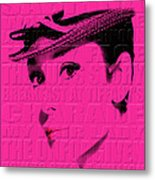 Audrey Hepburn 4 Metal Print
