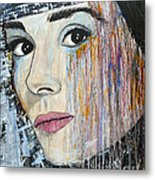 Audrey Hepburn-abstract Metal Print