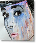 Audrey Hepburn - Painting Metal Print