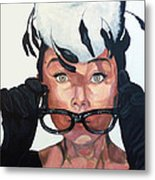 Audrey Hepburn Metal Print by Tom Roderick