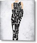 Audrey Hepburn Typography Poster Metal Print