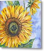 Audrey's Sunflower Metal Print