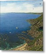 August Afternoon At Whitsand Bay Cornwall Metal Print