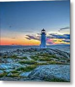 August Sunset At Peggy's Cove 2 Metal Print
