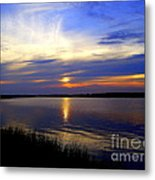 August Sunset Reflection Metal Print