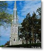 Augustinian Cemetery And Church Metal Print