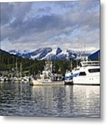 Auke Bay Harbor Metal Print